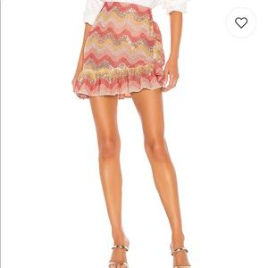 "NBD Skirts - REVOLVE ""NBD"" Zinnia Embroidered Mini Skirt"
